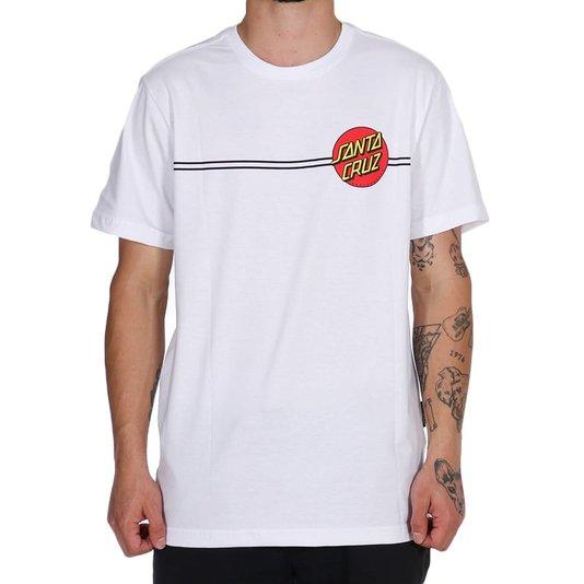 Camiseta Santa Cruz Classic Dot Back Logo Branco
