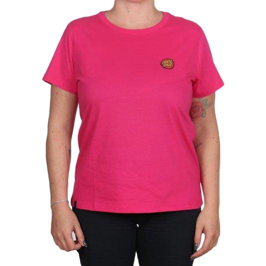 Camiseta Santa Cruz Classic Dot Bottom Feminina Rosa