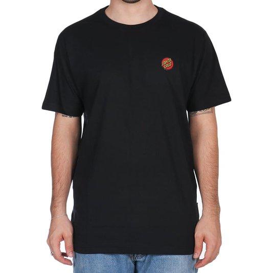 Camiseta Santa Cruz Classic Dot Chest Preto