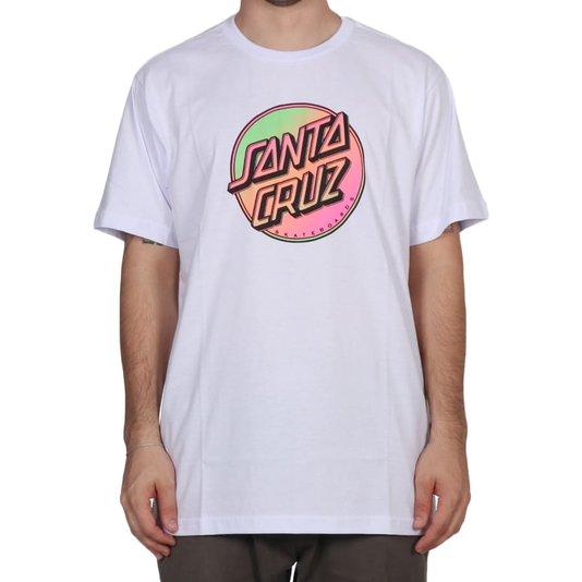 Camiseta Santa Cruz Contra Dot Pop Branco