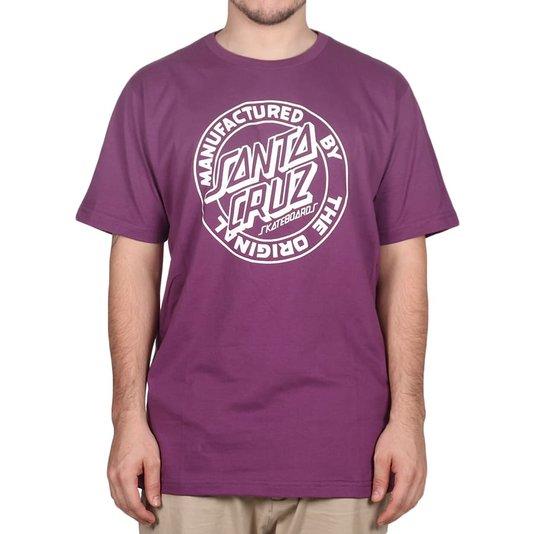 Camiseta Santa Cruz Mfg Dot 1 Color Roxo