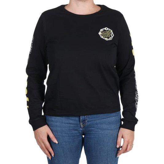 Camiseta Santa Cruz Phase Dot M/L Feminina Preto
