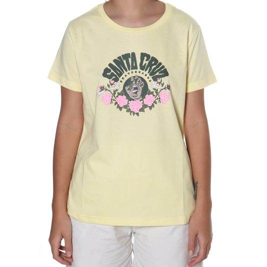 Camiseta Santa Cruz Screaming Arrangement Fem Amarelo Claro