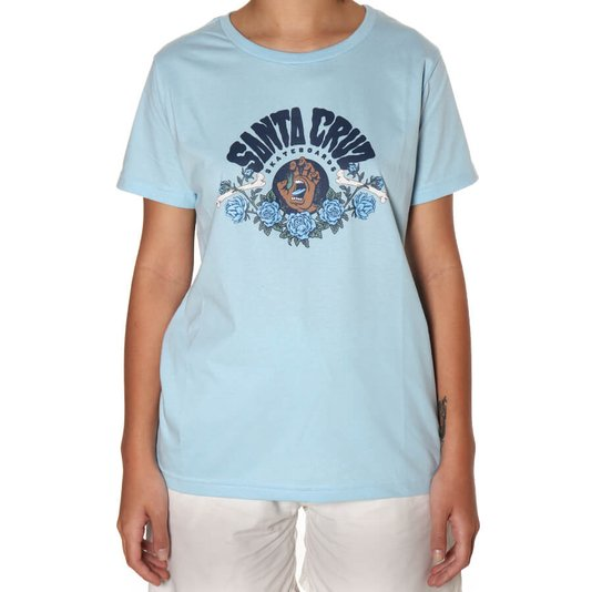Camiseta Santa Cruz Screaming Arrangement Fem Azul Claro
