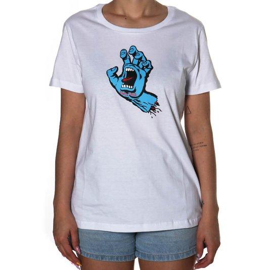 Camiseta Santa Cruz Screaming Hand Feminina Branco