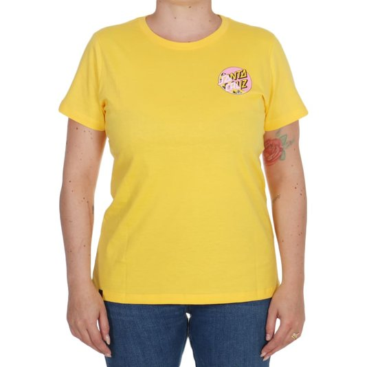 Camiseta Santa Cruz Vacation Other Splice Feminina Amarelo