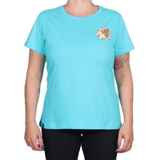 Camiseta Santa Cruz Vacation Other Splice Feminina Azul Turquesa