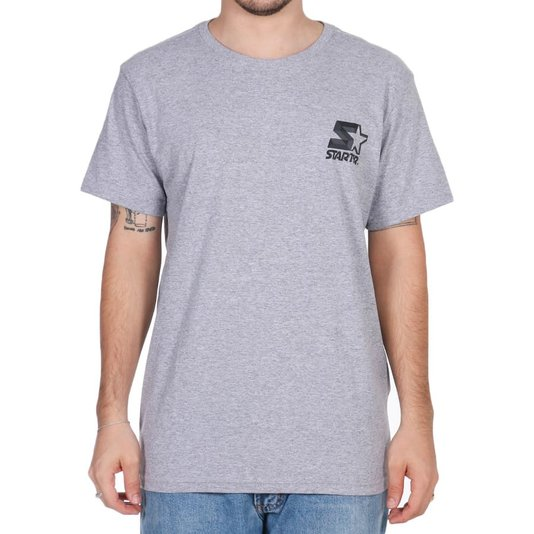 Camiseta Starter Basic Logo Cinza Mescla
