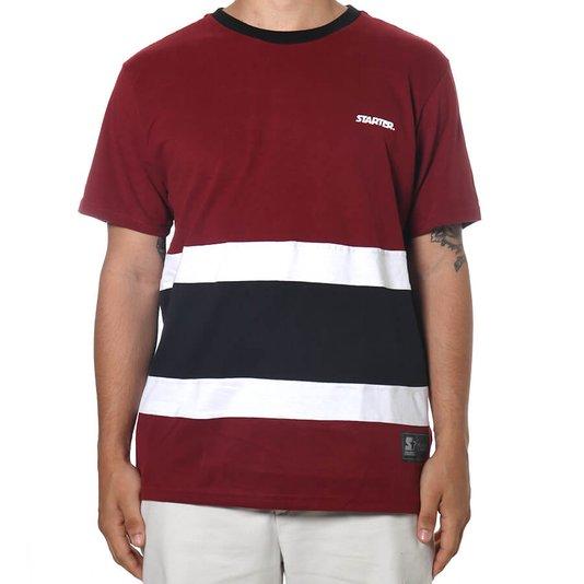 Camiseta Starter Especial Sbl  Bordo/Preto/Branco