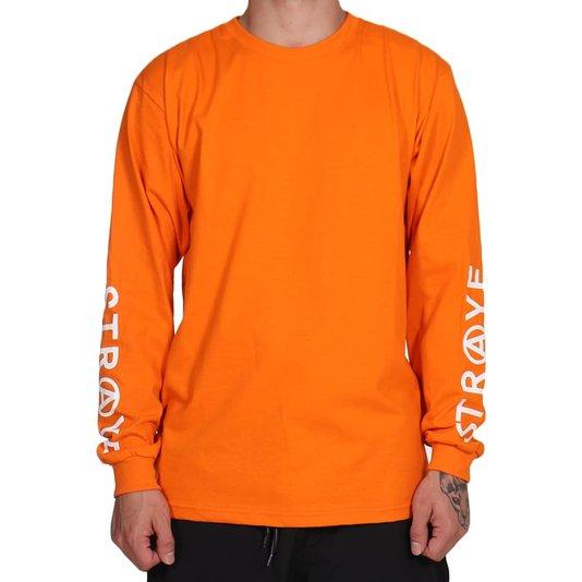 Camiseta Straye Trap Long M/L Laranja