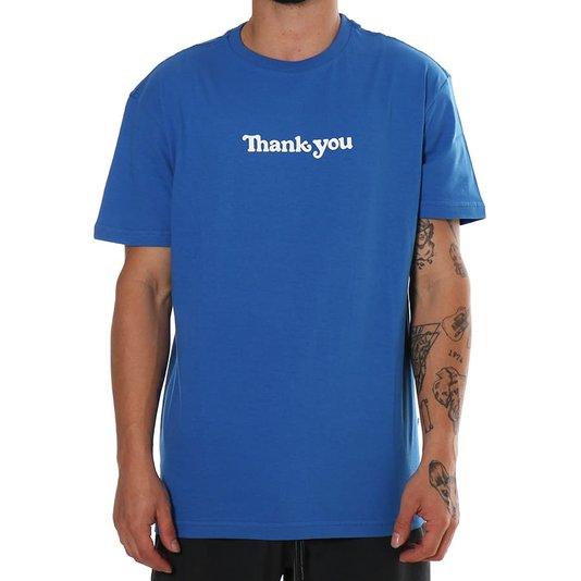 Camiseta Thank You Center Ss Azul Royal