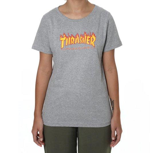 Camiseta Thrasher Flame Feminina Mescla