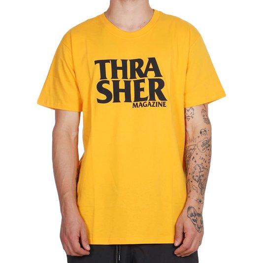 Camiseta Thrasher Magazine Anti-Logo Amarelo