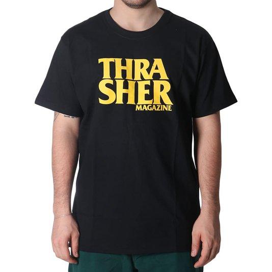 Camiseta Thrasher Magazine Anti-Logo Preto/Amarelo