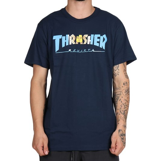 Camiseta Thrasher Magazine Argentina Azul Marinho