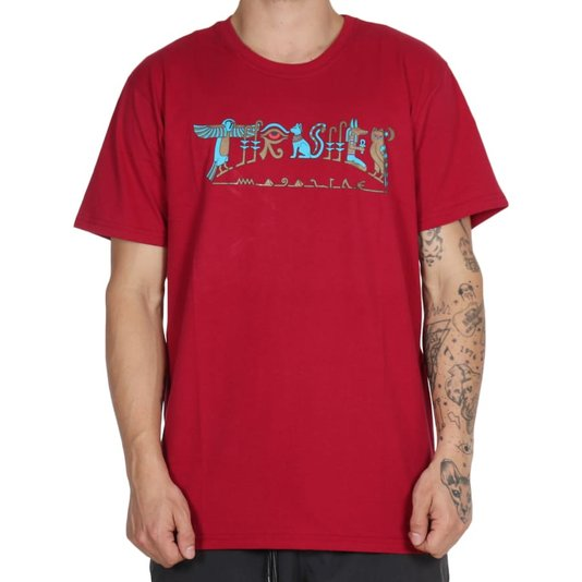 Camiseta Thrasher Magazine Hieroglyphics Bordo