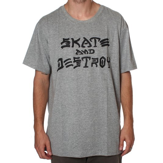 Camiseta Thrasher Magazine Skate And Destroy Mescla