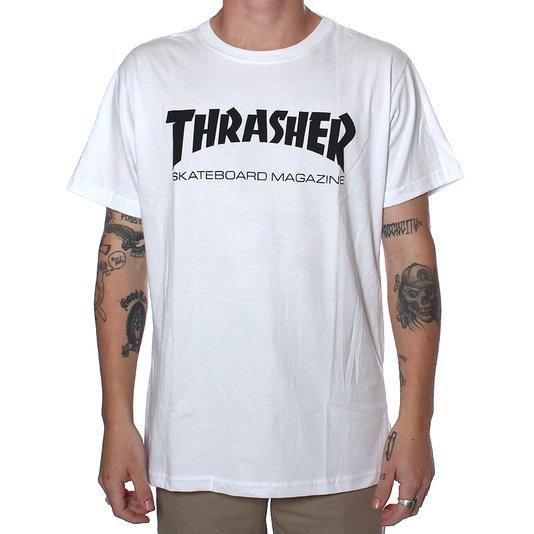 Camiseta Thrasher Magazine Skate Mag Branco