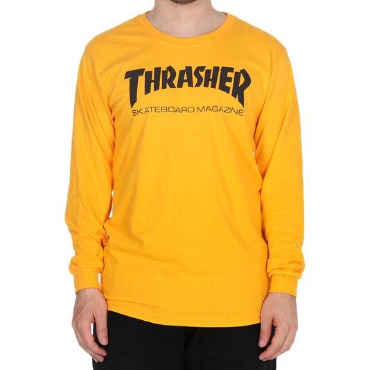 Camiseta Thrasher Magazine Skate Mag Logo M/L Amarelo