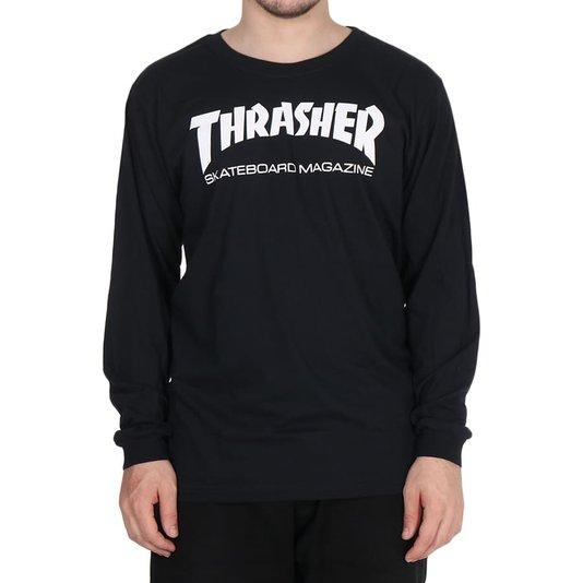 Camiseta Thrasher Magazine Skate Mag Logo M/L Preto