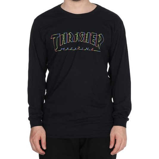 Camiseta Thrasher Magazine Spectrum M/L Preto