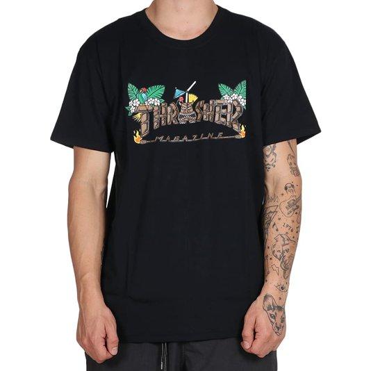 Camiseta Thrasher Magazine Tiki Preto