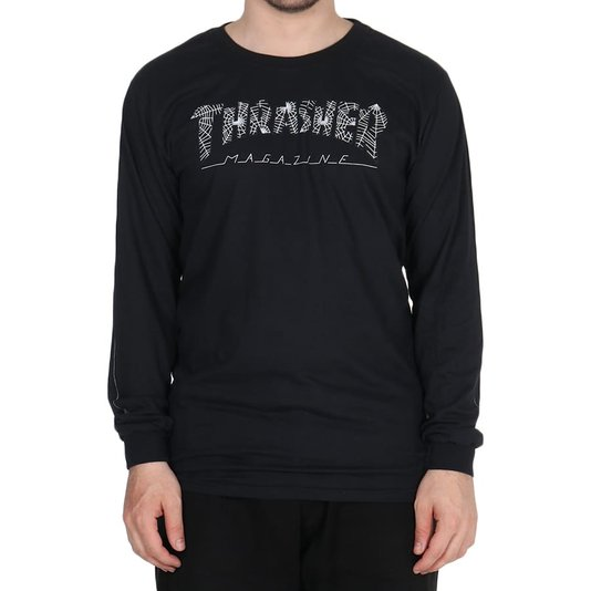 Camiseta Thrasher Magazine Web Logo M/L Preto