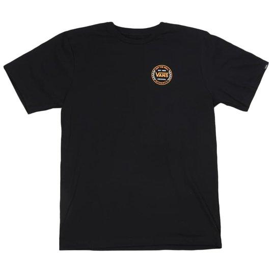 Camiseta Vans Authentic Checker Ss Juvenil Preto