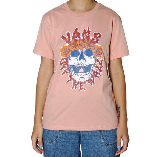Camiseta Vans Brancho Skull Feminina Rose