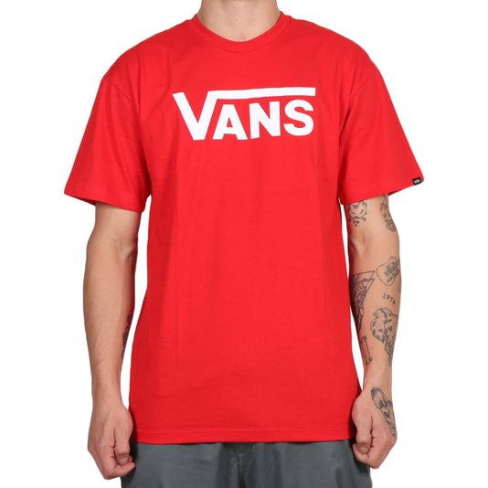Camiseta Vans Classic High Risk Vermelho