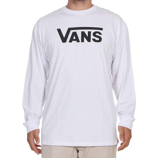 Camiseta Vans Classic Ml Branco