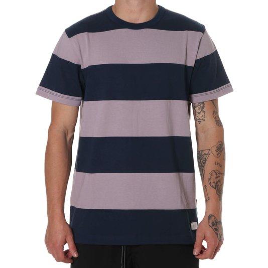 Camiseta Vans Gibson Stripe Azul Marinho/Lilás