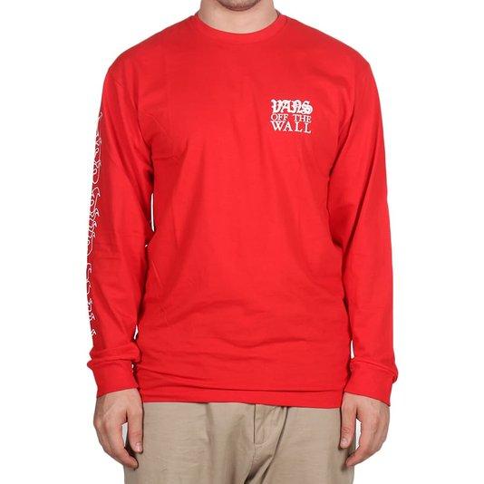 Camiseta Vans Griffin High Risk M/L Vermelho