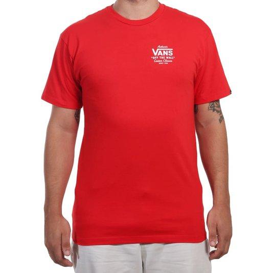 Camiseta Vans Holder St Classic High Risk Vermelho
