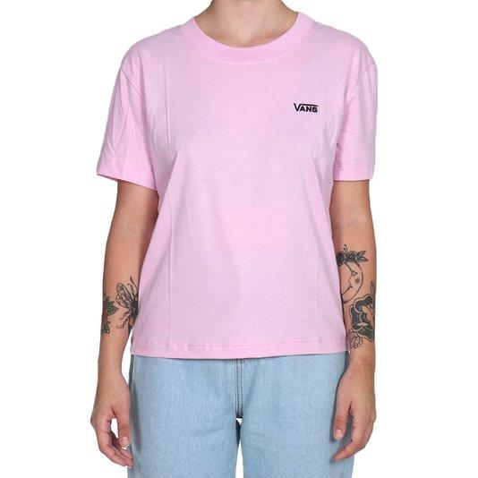 Camiseta Vans Junior V Boxy Feminina Rosa Claro