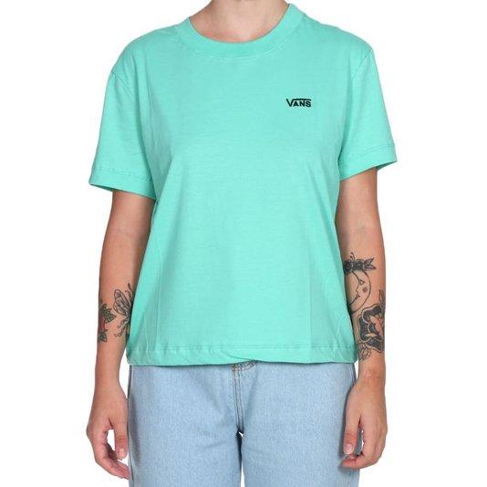 Camiseta Vans Junior V Boxy Feminina Verde Agua