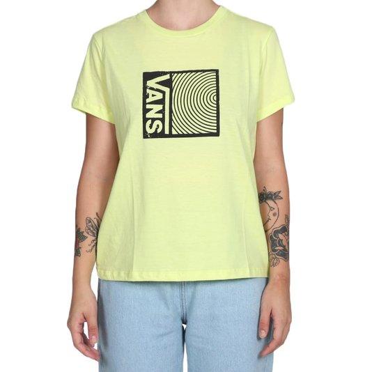 Camiseta Vans Locked In Crew Feminina Amarelo Limão