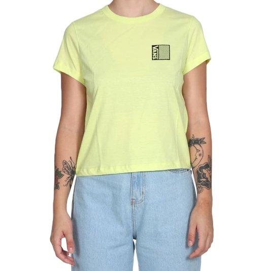 Camiseta Vans Locked In Feminina Amarelo Limão