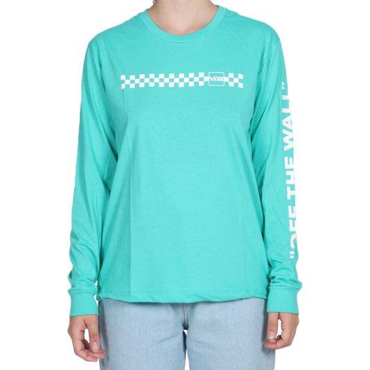 Camiseta Vans Mixed Up Fun Feminina Verde