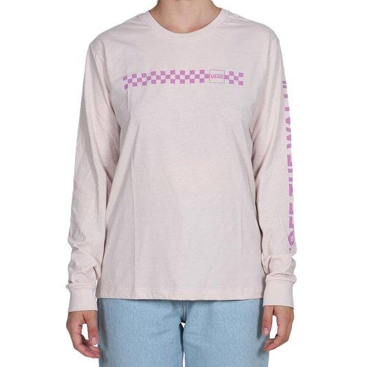 Camiseta Vans Mixed Up Fun Hushed Feminina Rosa Claro