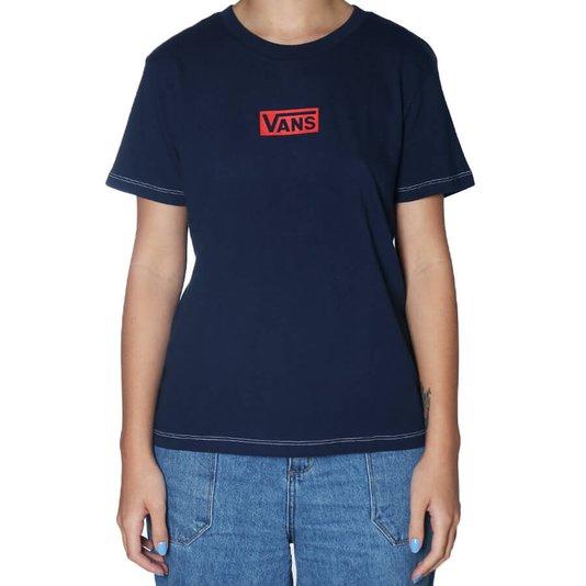 Camiseta Vans Pro Stitched Crew Feminina Azul