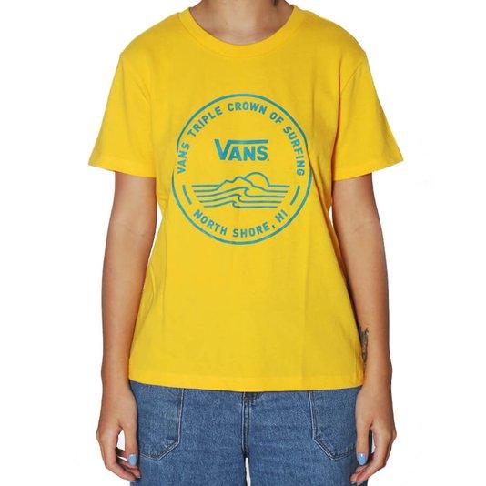 Camiseta Vans Wm 2020 Vtcs Logo Feminina Amarelo