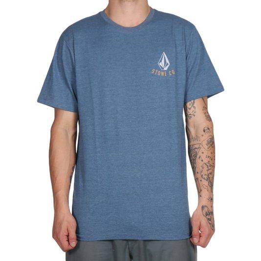 Camiseta Volcom Appliance Azul Mescla