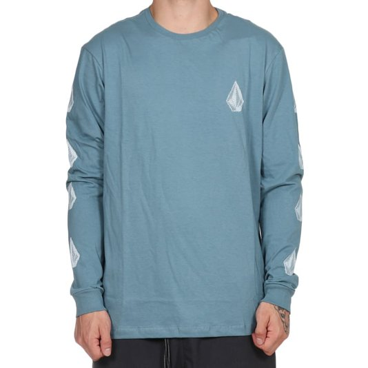 Camiseta Volcom Deadly Stone M/L Azul