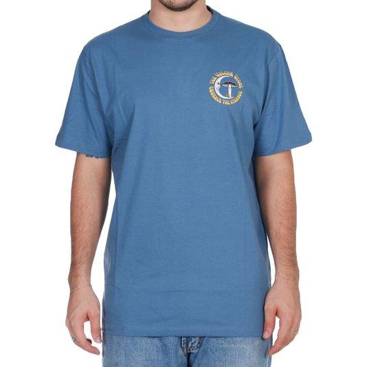 Camiseta Volcom Moom Goom Azul Estonado