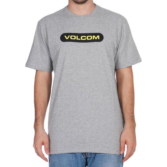 Camiseta Volcom New Euro Cinza Mescla