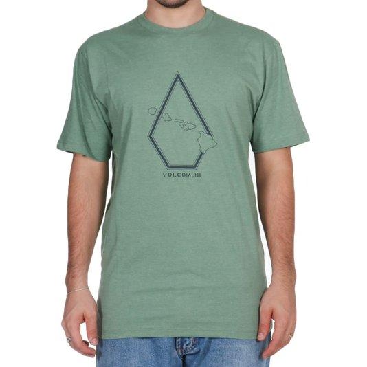 Camiseta Volcom Pin Stone Verde Mescla