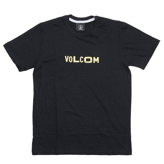 Camiseta Volcom Reply Infanto - Juvenil Preto