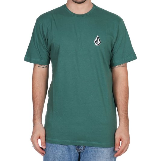 Camiseta Volcom Seadly Stone Verde Escuro