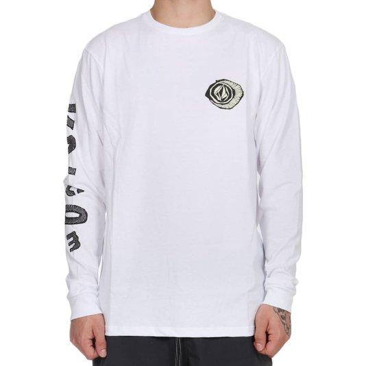 Camiseta Volcom Sick M/L Branco